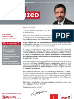 Profession de foi de Julien Landfried (1er tour)