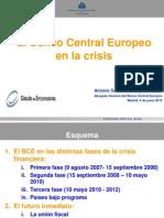 El Banco Central Europeo en La Crisis