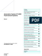 Automation System S7-400H Fault-Tolerant Systems