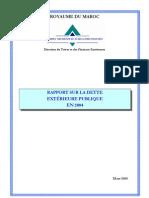 RAPPORT SUR LA DETTE EXTÉRIEURE PUBLIQUE EN 2004