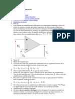 Principes des amplificateurs différentiels