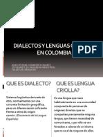 Dialectos y Lenguas Criollas