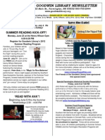 Goodwin Library Newsletter June 2012