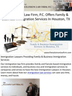 The Solomon Law Firm, P.C. Offers Family & Business Immigration Services In Houston, TX