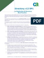 CA Directory r12 - Data Rep - Rec - Best Practice