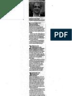 Législatives 2012 Article SO Gérard Chausset 5 Juin 2012