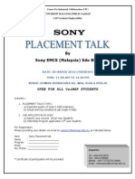 Placement Talk Sony