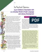 Science in the Preschool Classroom