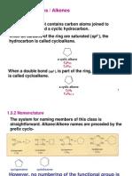 Cyclic Alkanes & Alkenes