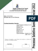 Ufc - 2011 Conhecimentos Gerais