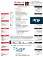 2012-2013 Approved Calendar