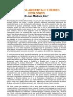 Giustizia ambientale e debito ecologico - Joan Martinez Alier