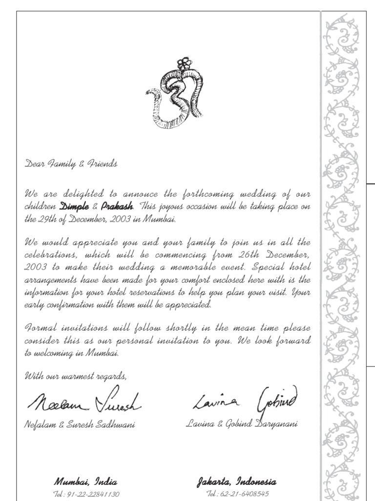 Cordially Invited Meaning In Hindi As Well Pre Invitation Letter Format