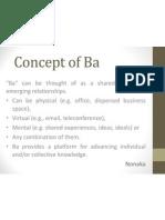 Concept of Ba