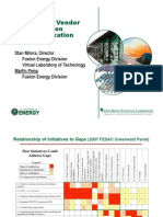 Fusion Status ITER Materials  - Developing a Vendor Base for Fusion Commercialization