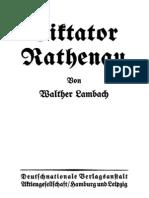 Walther Lambach, Diktator Rathenau (1918)
