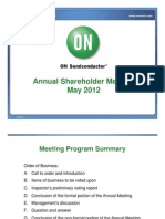 ON SEMI Annual Shareholder Meeting Presentation - FINAL