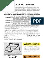 Manual Del Usuario de Bicicletas