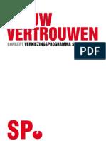 Concept Verkiezingsprogramma SP