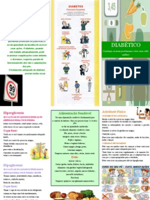 panfletos de diabetes para pacientes