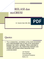 Statistik Inferensial(Korelasi Dan Regresi)