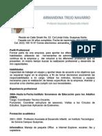 Curriculum - Armandina Trejo Navarro