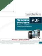 The Enterprise Mobile App Market Status Report 2012