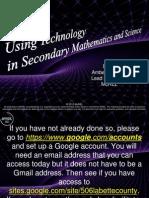 Secondary Math Sci Tech Day1