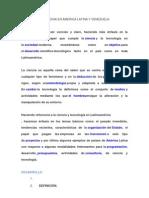 Ciencia y Tecnologia en America Latina y Venezuela