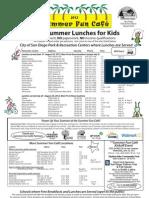 Summer Food Flyer 2012