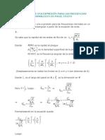 Deducción3 - Frecuencias normales panel finito