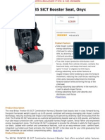 Britax Frontier 85 SICT Booster Seat, Onyx