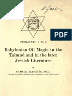 Babylonian Oil Magic s Daiches
