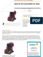 Safety 1st Complete Air 65 Convertible Car Seat, Raspberry Rose