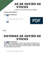 SISTEMAS DE GESTÃO DE STOCKS