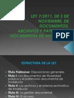 Ley 7.2011 Patrimonio Documental Andalucía