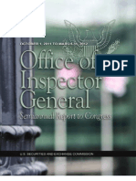 SEC-OIG Semiannual Report to Congress (Oct. 1, 2011 - Mar. 31, 2012)