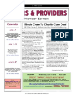 Payers & Providers Midwest Edition – Issue of June 5, 2012