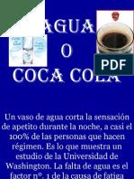 Agua vs. Coca Cola