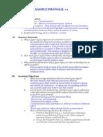 Sample Proposals