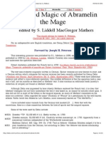 Book of the Sacred Magic of Abramelin the Mage, Translated by S.L. Mathers