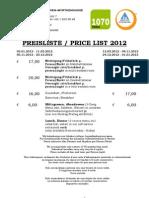 Pre is Liste 2012