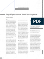 Introductory Finance [Columbia] - ARTICLE - Legal System & Bank Development