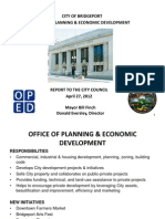 Economic Development Report to City Council 4.27.12