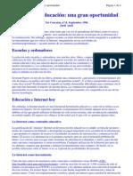 Internet en Educacion_una Gran Oportunidad