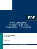 HCI Using Competency Management to Drive Org Perf