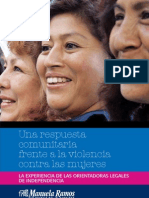 Una respuesta comunitaria frente a la violencia contra la mujer
