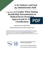 FDA Guidance Risk Benefit 510k[1]