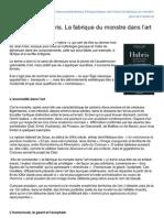 Ecoledeslettres.fr-jean Clair Hubris La Fabrique Du Monstre Dans Lart Moderne