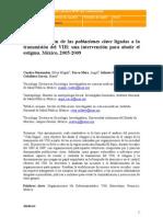 La organización de las poblaciones clave ligadas a la transmisión del VIH una intervención para abatir el estigma. México, 2005-2009